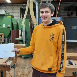 Jonas Wacker, Auszeichnung der CSD Ingenieure AG für die beste Bachelorthesis zum Thema Nachhaltigkeit.