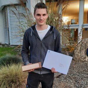 Lars Keller, Auszeichnung der Stiftung Kaderschulung Holztechnik für die beste Gesamtstudienleistung
