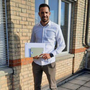 Mario Marty, ausgezeichnet von von Swiss Engineering STV für die beste Bachelorthesis.